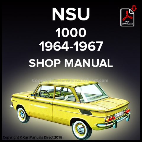 NSU 1000 1964-1967 Workshop Manual | carmanualsdirect