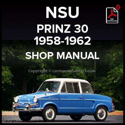 NSU Prinz 30 1958-1962 Workshop Manual | carmanualsdirect