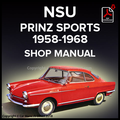 NSU Prinz Sport 1958-1968 Workshop Manual | carmanualsdirect