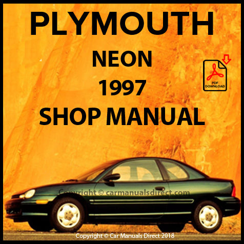 PLYMOUTH Neon Highline, Sport, Expresso, EX, Style 1997 Shop Manual | carmanualsdirect