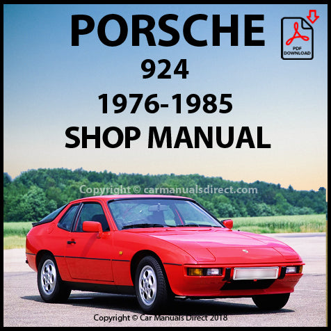PORSCHE 924 1976-1985 Shop Manual | carmanualsdirect