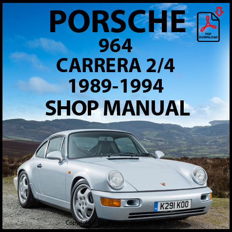 Porsche 911 (964) Carrera 2, Porsche 911 (964) Carrera 4 Shop Manual | carmanualsdirect