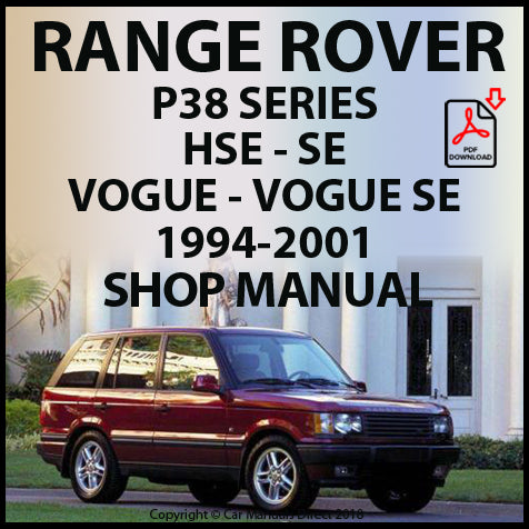 RANGE ROVER P38 1994-2001 Shop Manual | carmanualsdirect