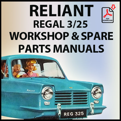 RELIANT Regal 1962-1965 Workshop and Spare Parts Manual | carmanualsdirect
