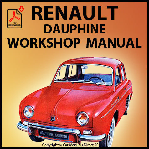 RENAULT Dauphine 1956-1967 Workshop Manual | carmanualsdirect