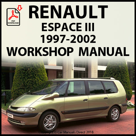 RENAULT Espace III 1997-2002 Workshop Manual | carmanualsdirect