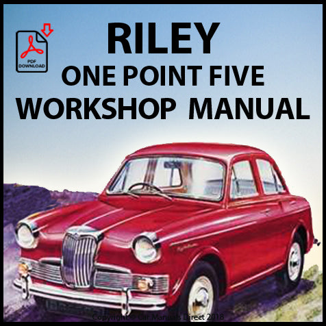 RILEY One Point Five 1957-1965 Workshop Manual | carmanualsdirect
