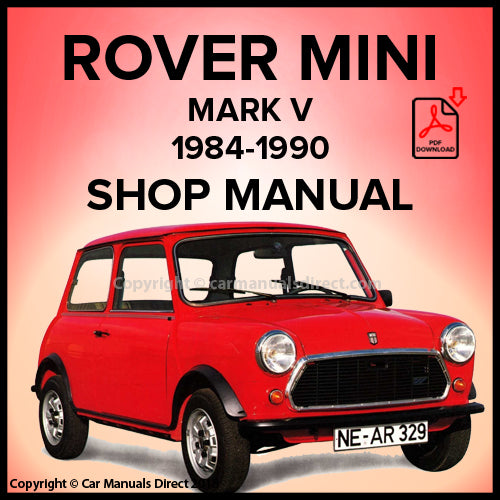 ROVER MINI Mark V 1984-1990 Workshop Manual | carmanualsdirect
