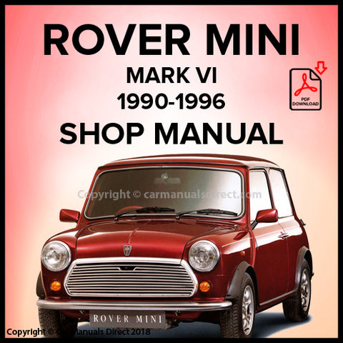 ROVER MINI Mark VI 1990-1996 Workshop Manual | carmanualsdirect