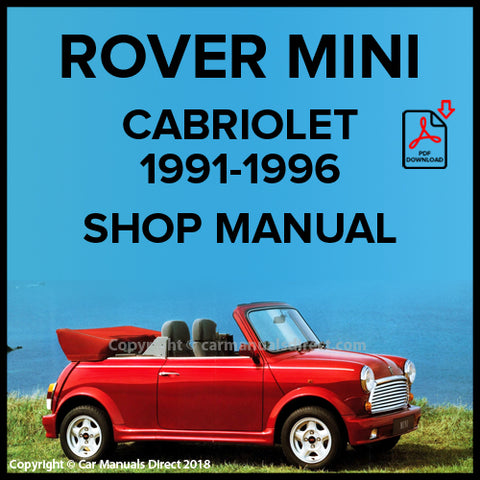 ROVER MINI Cabriolet 1991-1996 Workshop Manual | carmanualsdirect