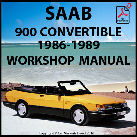SAAB 900 Convertible 1986-1989 Workshop Manual | carmanualsdirect
