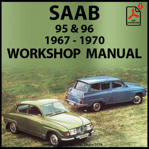 SAAB 95, 96, Monte Carlo V4 1966-1970 Workshop Manual | carmanualsdirect