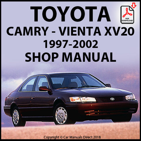 TOYOTA Camry and Vienta XV20 1997-2001 Shop Manual | carmanualsdirect
