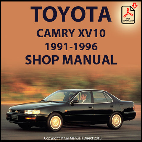 TOYOTA Camry XV10 Wide Body 1991-1996  Shop Manual | carmanualsdirect