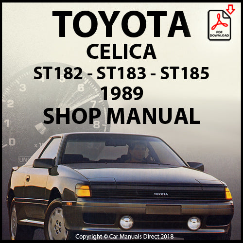 TOYOTA Celica ST182, ST183, ST185 1989 Shop Manual | carmanualsdirect