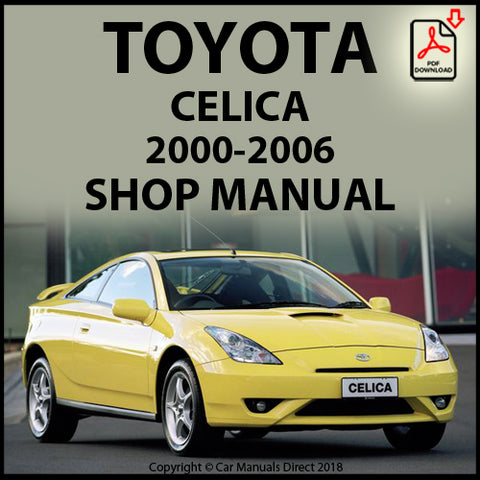 TOYOTA Celica (T230) 2000-2006 Shop Manual | carmanualsdirect