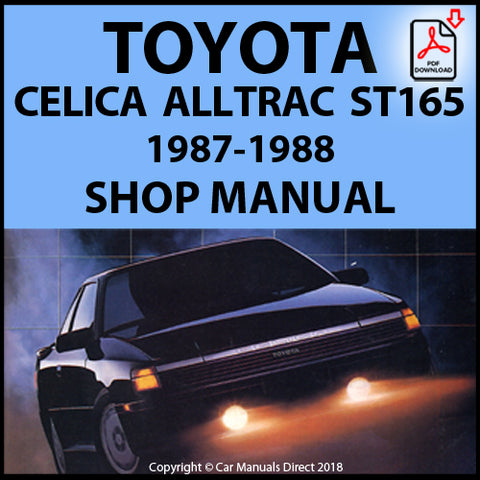 TOYOTA Celica AllTrac ST165 1987-1988 Shop Manual | carmanualsdirect