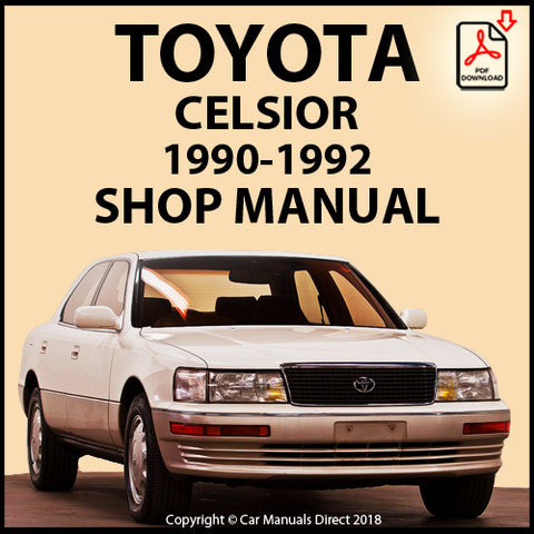 TOYOTA Celsior UCF10 1990-1992 Shop Manual | carmanualsdirect