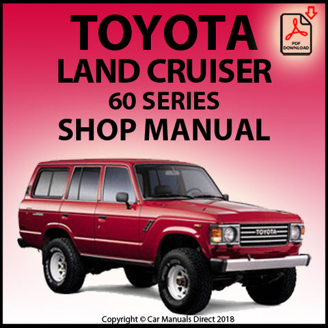 TOYOTA Land Cruiser 60 Series Workshop Manual | carmanualsdirect