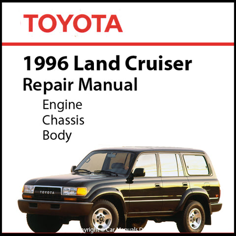 Toyota Land Cruiser FJ80, HZJ80, HDJ80 Series 1996 Workshop Manual | carmanualsdirect
