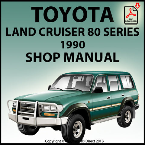 TOYOTA Land Cruiser FJ80, HZJ80, HDJ80  Series 1990 Shop Manual | carmanualsdirect