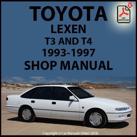 TOYOTA Lexcen T3 and T4 1993-1997 Workshop Manual | carmanualsdirect