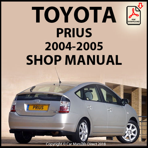 TOYOTA Prius XW20 2004-2005 Shop Manual | carmanualsdirect