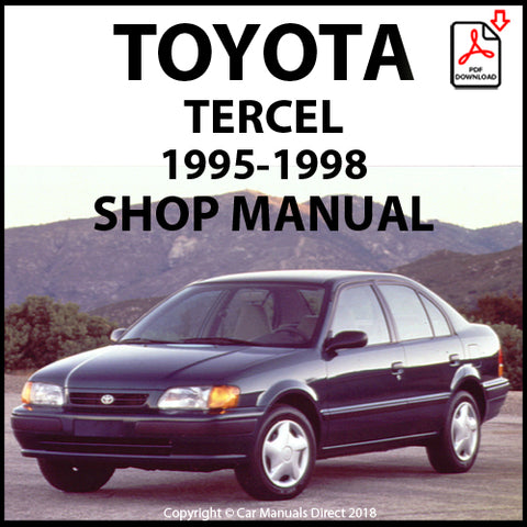 TOYOTA Tercel 1995-1998 Workshop Manual | carmanualsdirect
