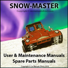 AKTIV SNOW MASTER Instruction Book & Parts Manual: 1967, 1969, 1976, 1978, 1980