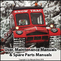 AKTIV SNOW TRAC User, Maintenance & Parts Manuals: 1963, 1966, 1967, 1972, 1975, 1976, 1979