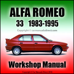 ALFA ROMEO 33 Workshop Manual: 1983-1995