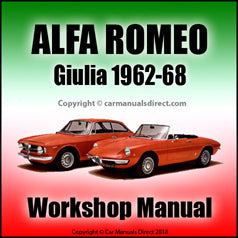 ALFA ROMEO Giulia Workshop Manual: 1962-1968