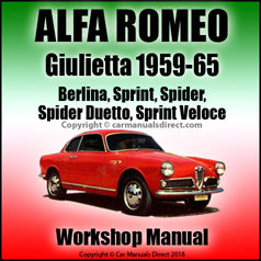ALFA ROMEO Giulietta 1959-1965 Workshop Manual