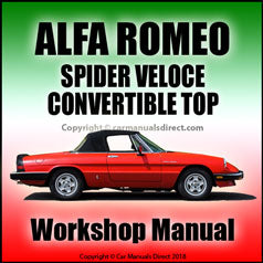 ALFA ROMEO Spider Veloce Convertible Top Repair Manual