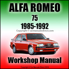 ALFA ROMEO 75 1985-1992 Workshop Manual