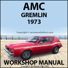 AMC Gremlin 1973 Workshop Manual