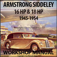 ARMSTRONG SIDDELEY 1945-1954, 16HP & 18HP Models Workshop Manual