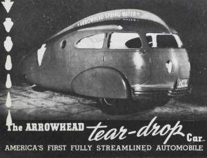 Arrowhead Teardrop Car 1936 Sales Literature - FREE
