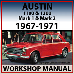 AUSTIN 1100 & 1300 Mark 1 & 2 Workshop Manual