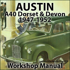 AUSTIN A40 Devon & Dorset 1947-1952 Workshop Manual