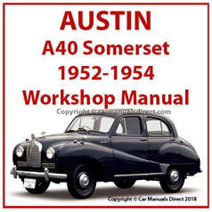 AUSTIN A40 Somerset 1952-1954 Workshop Manual