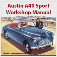 AUSTIN A40 Sport 1952-1954 Workshop Manual