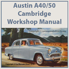 AUSTIN A40 & A50 Cambridge 1954-1957 Workshop Manual