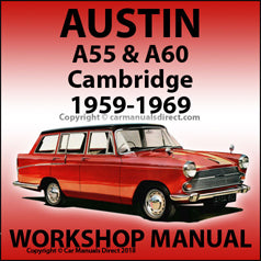 AUSTIN A55 & A60 Cambridge 1959-1969 Workshop Manual | carmanualsdirect