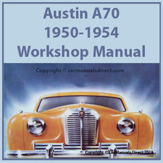 AUSTIN A70 1950-1954 Workshop Manual