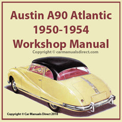 AUSTIN A90 Atlantic  1950-1954 Workshop Manual | carmanualsdirect