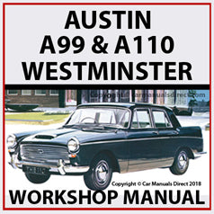 AUSTIN A99 & A110 1959-1968 Westminster Workshop Manual