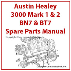 AUSTIN Healey 3000 Spare Parts Manual | carmanualsdirect