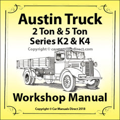 AUSTIN TRUCK K2 & K4 Series Workshop Manual