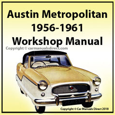 AUSTIN Metropolitan 1956-1961 Workshop Manual | carmanualsdirect